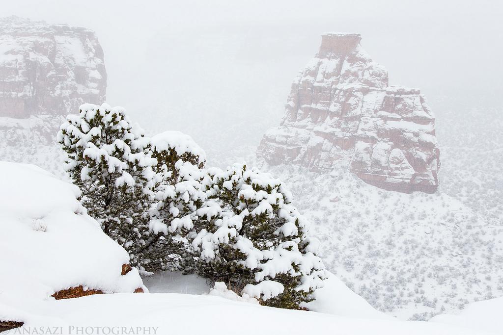 Christmas Eve Monument Snowstorm