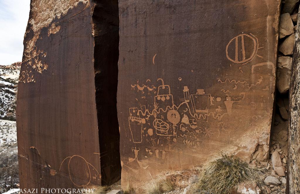 Indian Creek Canyon Petroglyphs