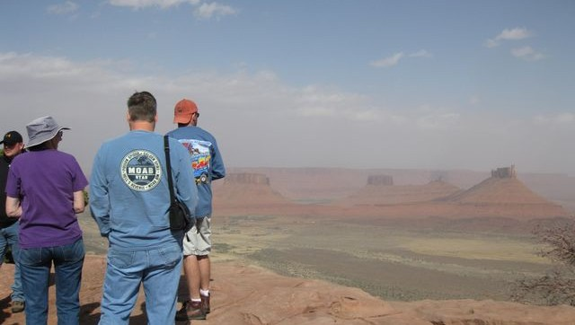 Windy & Dusty on the Porcupine Rim