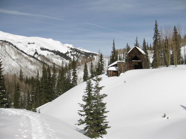 Snowshoeing the Red Mountain Mining Area