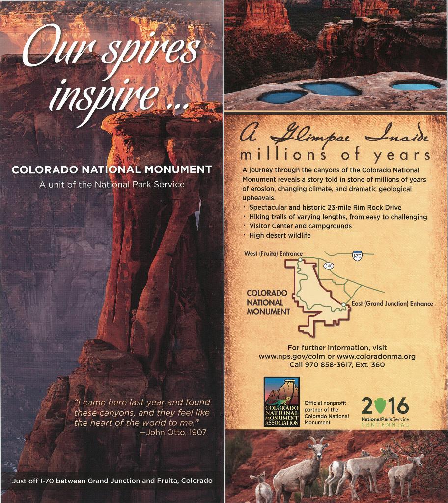 Colorado National Monument Rack Card