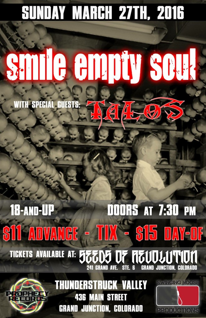 Smile Empty Soul 2016