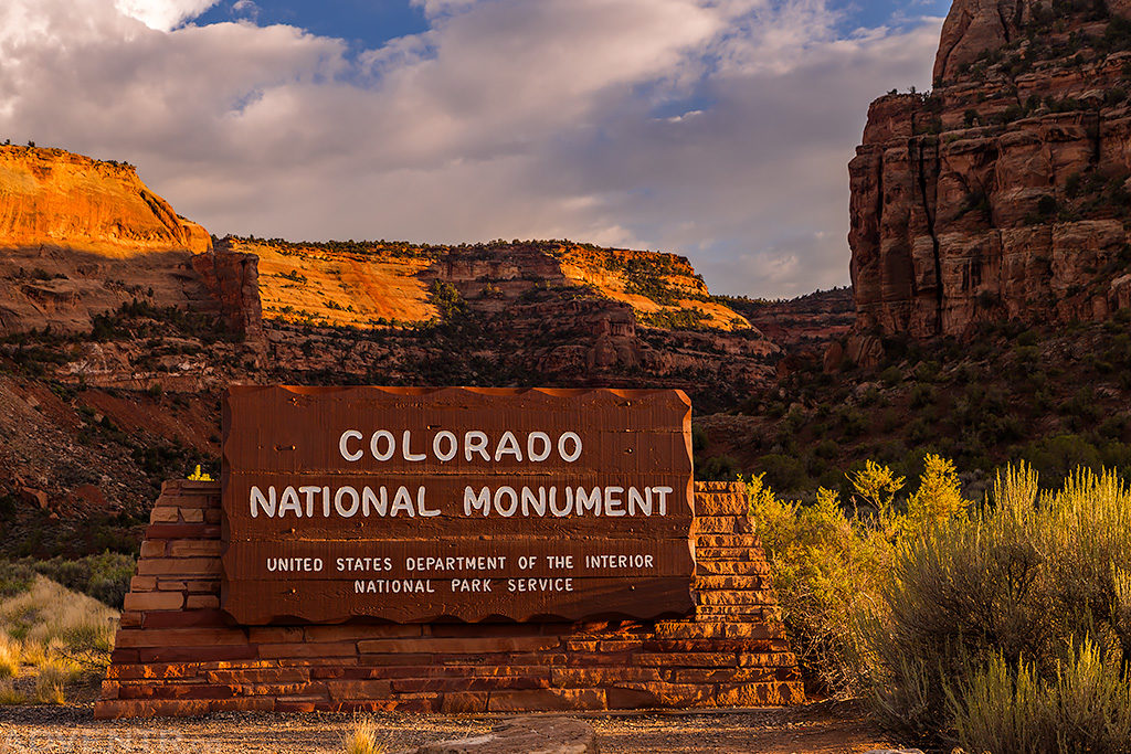 Colorado National Monument Sign