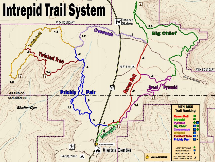 Intrepid Trail System Map